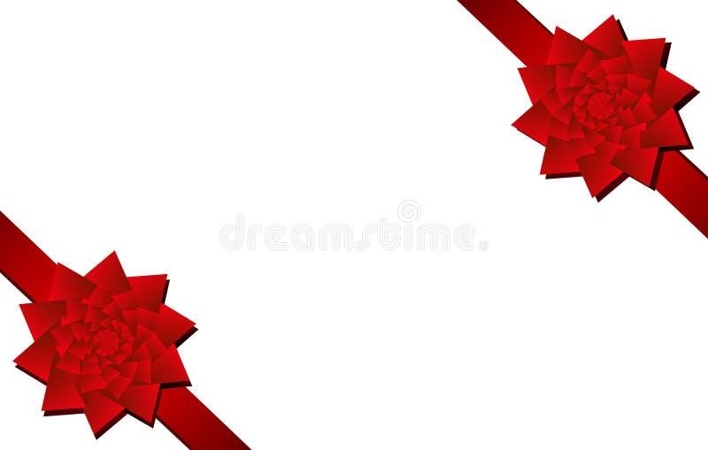 De Rode Stukken Van De Hoek Van De Bogen Van Kerstmis Stock Fotografie