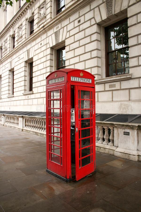 De Rode Telefooncel van Londen Londen aantrekkelijkheid-2 royalty-vrije stock fotografie