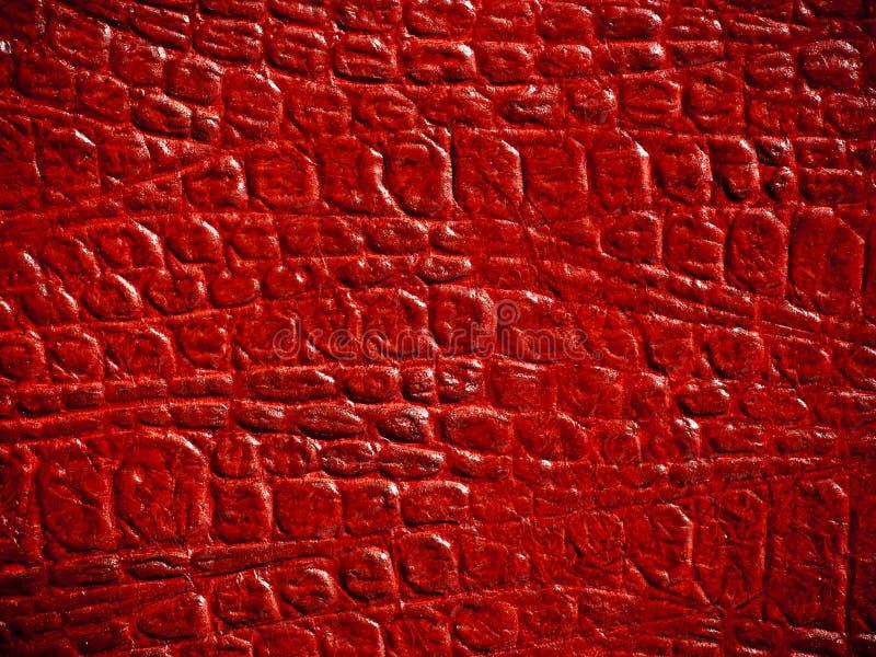 De rode Textuur van het Leer stock foto's