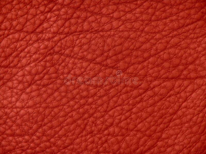 De rode Textuur van het Leer stock foto