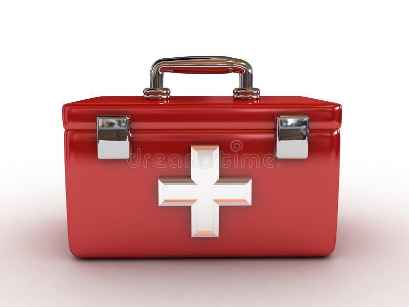 De rode uitrusting van de Eerste hulp royalty-vrije illustratie