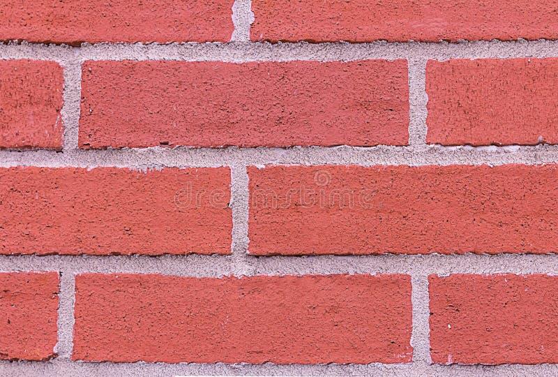 De rode van de de rechthoeksteen van de bakstenen muur horizontale rij het cementstrepen grunge stileren de stedelijke stijl clos stock fotografie