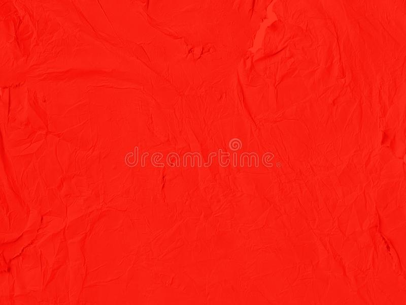 De rode verfrommelde document achtergrond royalty-vrije stock foto
