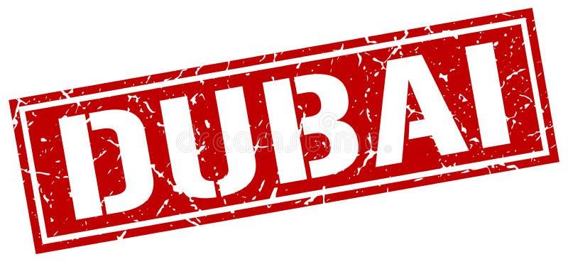 De rode vierkante zegel van Doubai vector illustratie