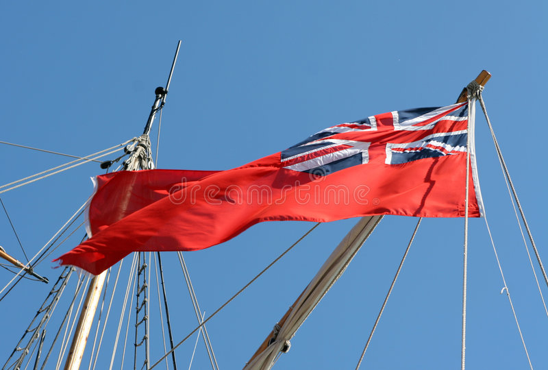 De rode Vlag stock foto's