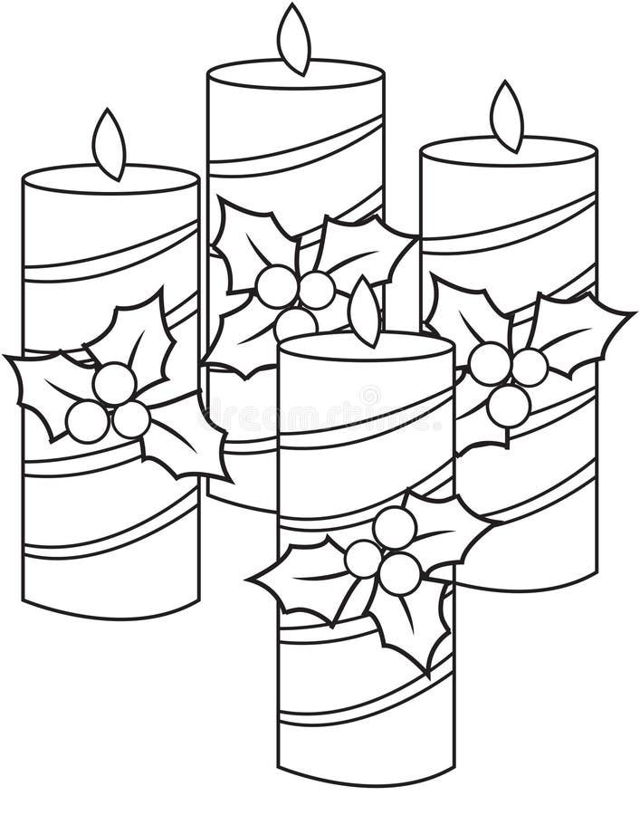 De rode Vlam van Kerstmis van Kaarsen royalty-vrije illustratie