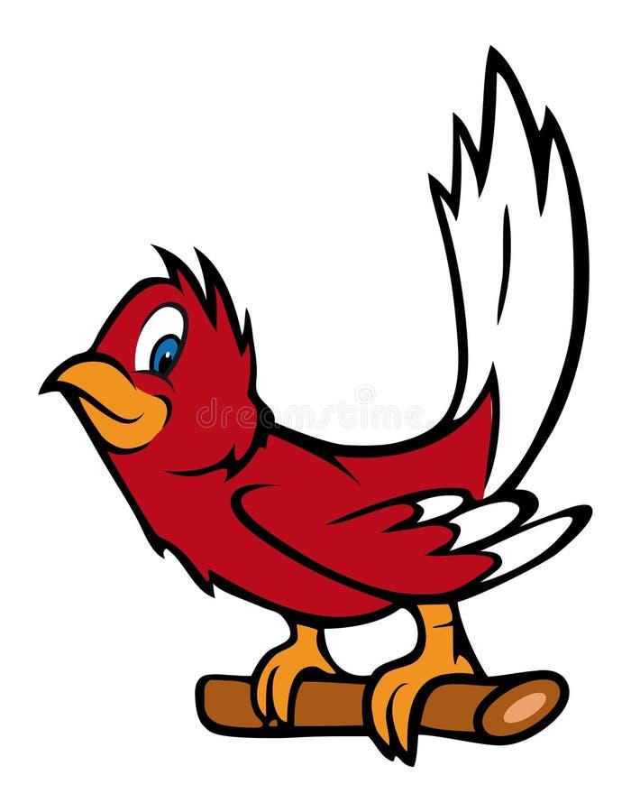 De rode vogel van Robin