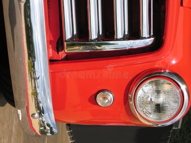 De Rode Voorzijde Van De Auto Stock Foto