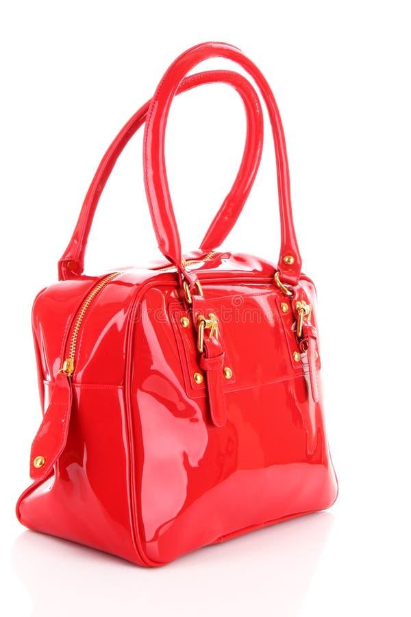 De rode vrouwen doen geïsoleerdp in zakken stock afbeelding