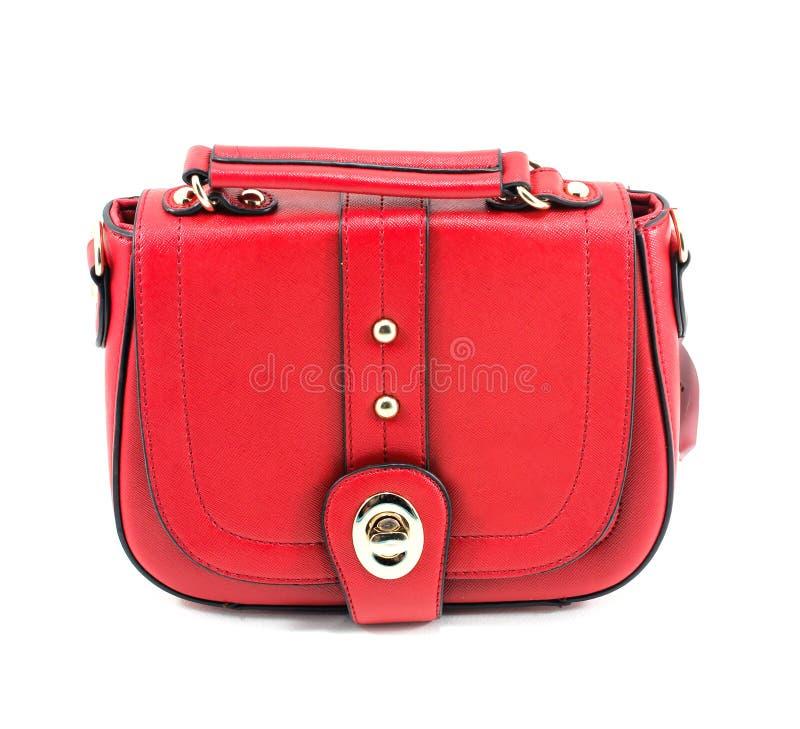 De rode vrouwen doen geïsoleerds in zakken stock foto's