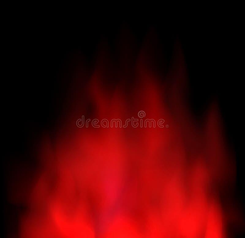 De rode wolk en rook abstracte ruimteachtergrond van het samenstellingsexemplaar vector illustratie