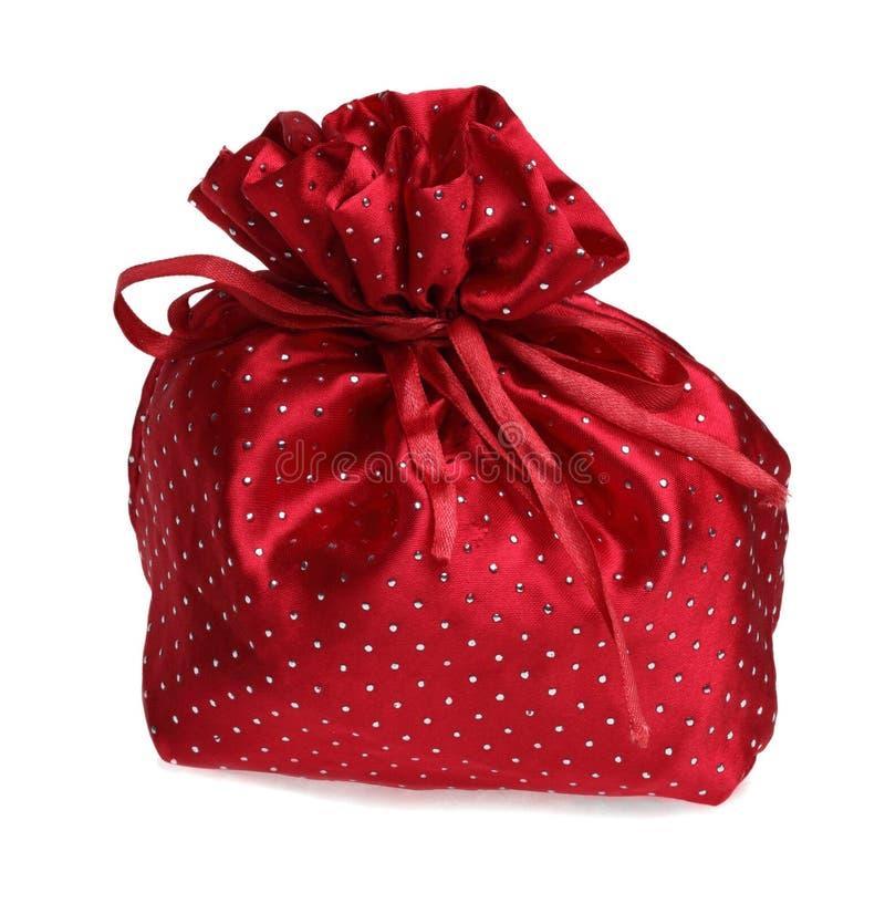 De Rode Zak Van De Gift Stock Afbeelding