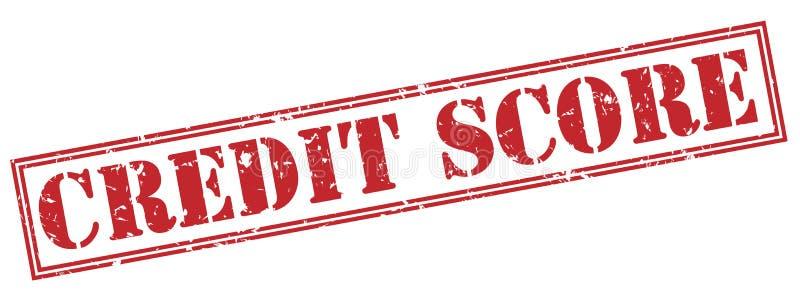 De rode zegel van de kredietscore stock illustratie