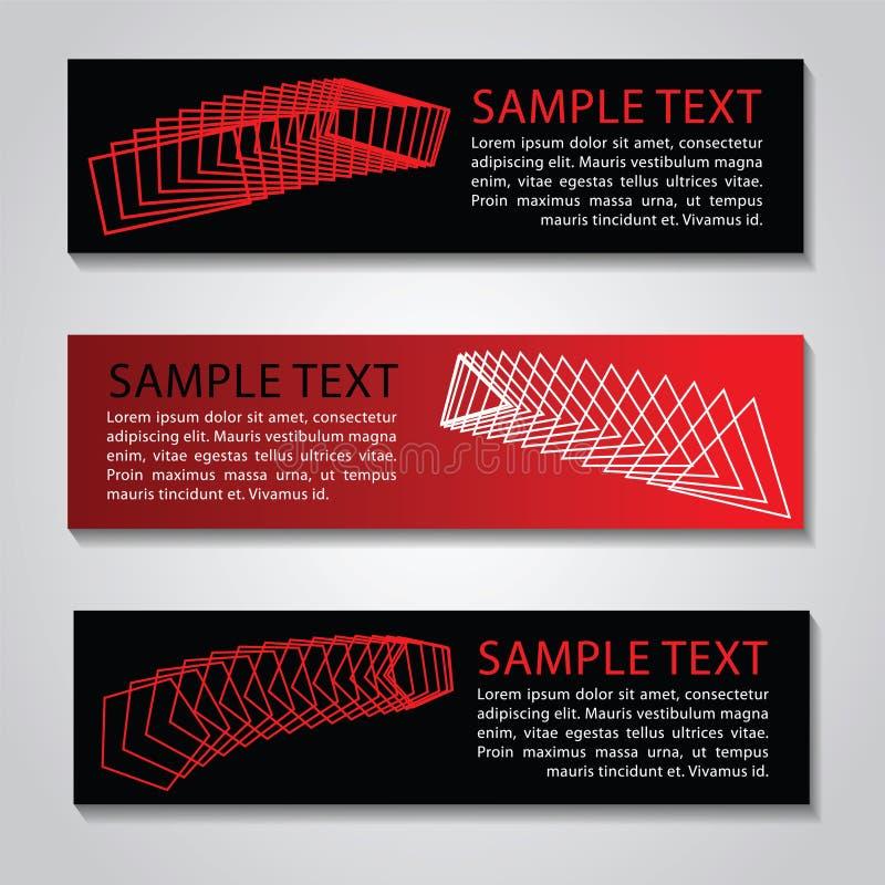 De rode zwarte kleurenbanner, voor ontwerpwebsite en past aan backgroun aan vector illustratie