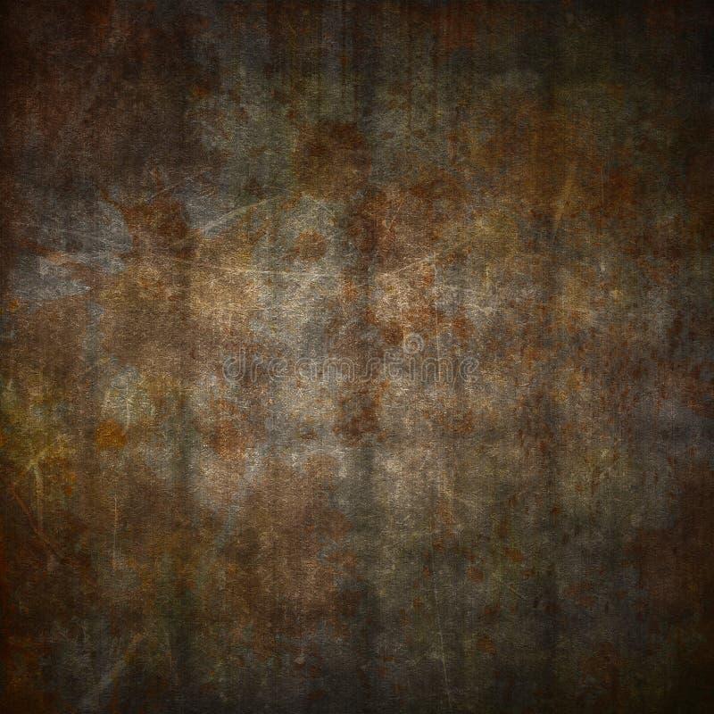 De roestige Achtergrond van de Plaat van het Metaal vector illustratie