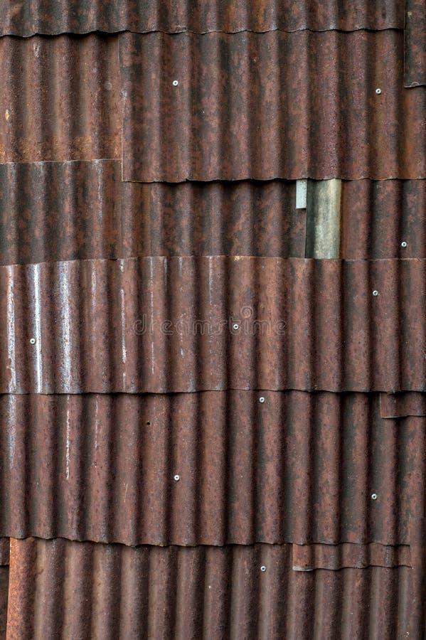 De roestige achtergrond van de zinktextuur stock fotografie