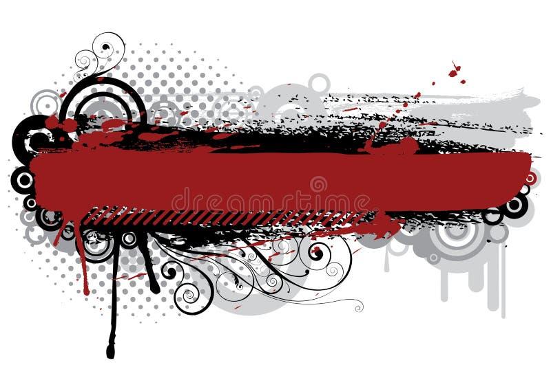 De roestige achtergrond van Grunge stock illustratie