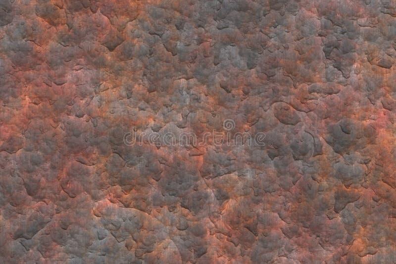 De roestige Achtergrond van Grunge van de Textuur van de Plaat van het Metaal stock illustratie