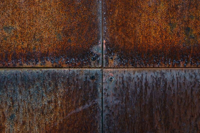 De roestige muur van het metaal stock fotografie