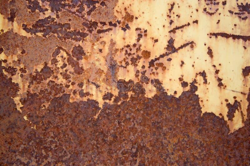 De roestige oppervlakte van het metaal stock afbeelding