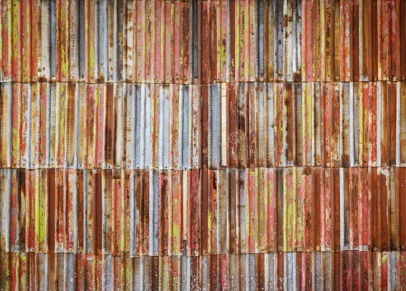 De roestige versleten achtergrond van de metaaltextuur stock afbeelding