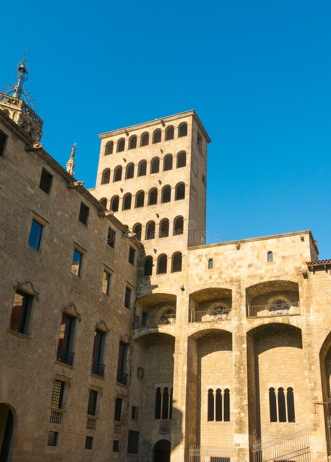 ` De roi s Martin Watchtower dans le Roi Square Quart gothique dans Barce photographie stock libre de droits