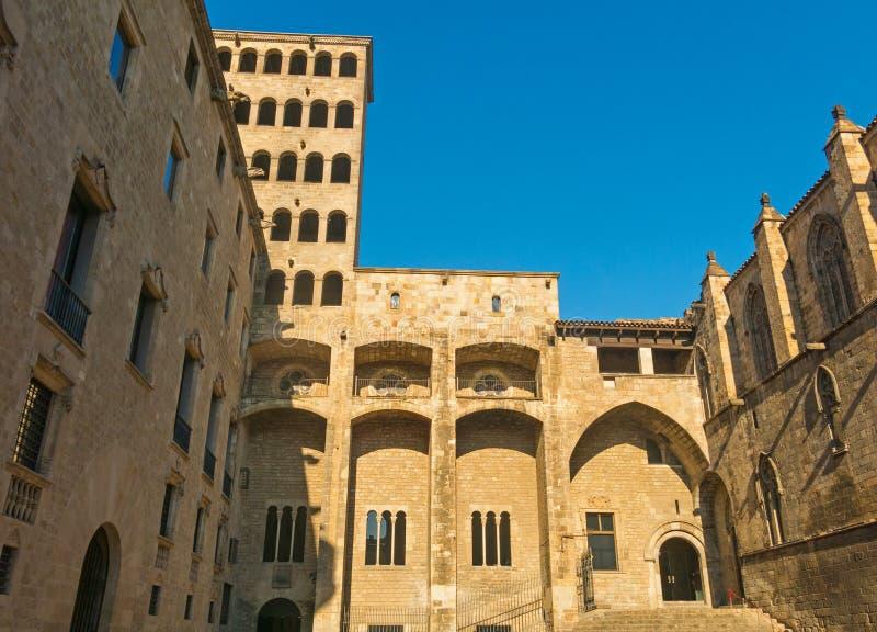 ` De roi s Martin Watchtower dans le Roi Square Quart gothique dans Barce photos stock