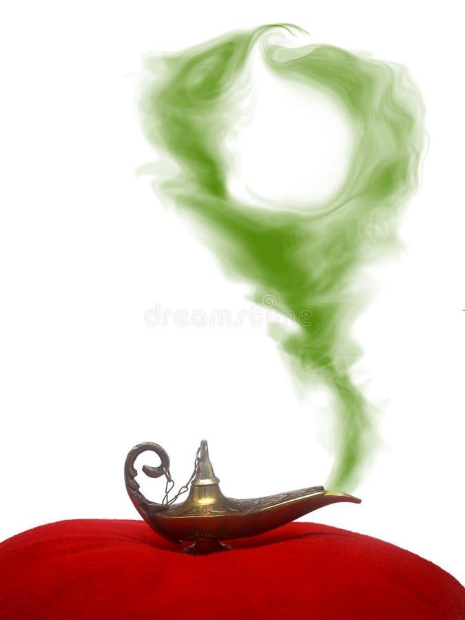De rokende Lamp van het Genie stock foto's
