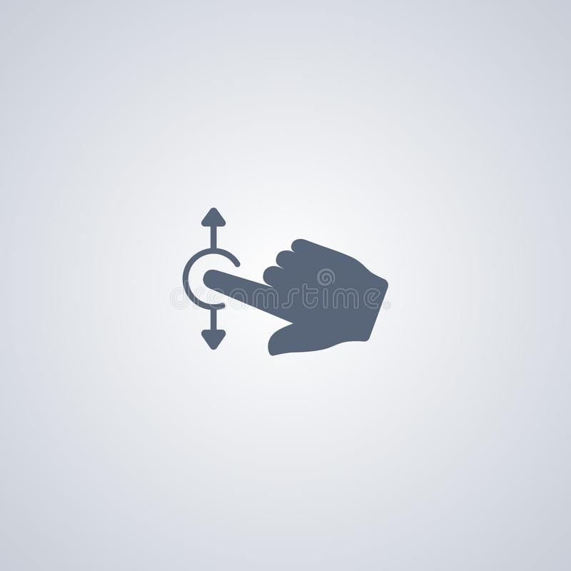 De rol van de gebaaraanraking, vector beste vlak pictogram vector illustratie