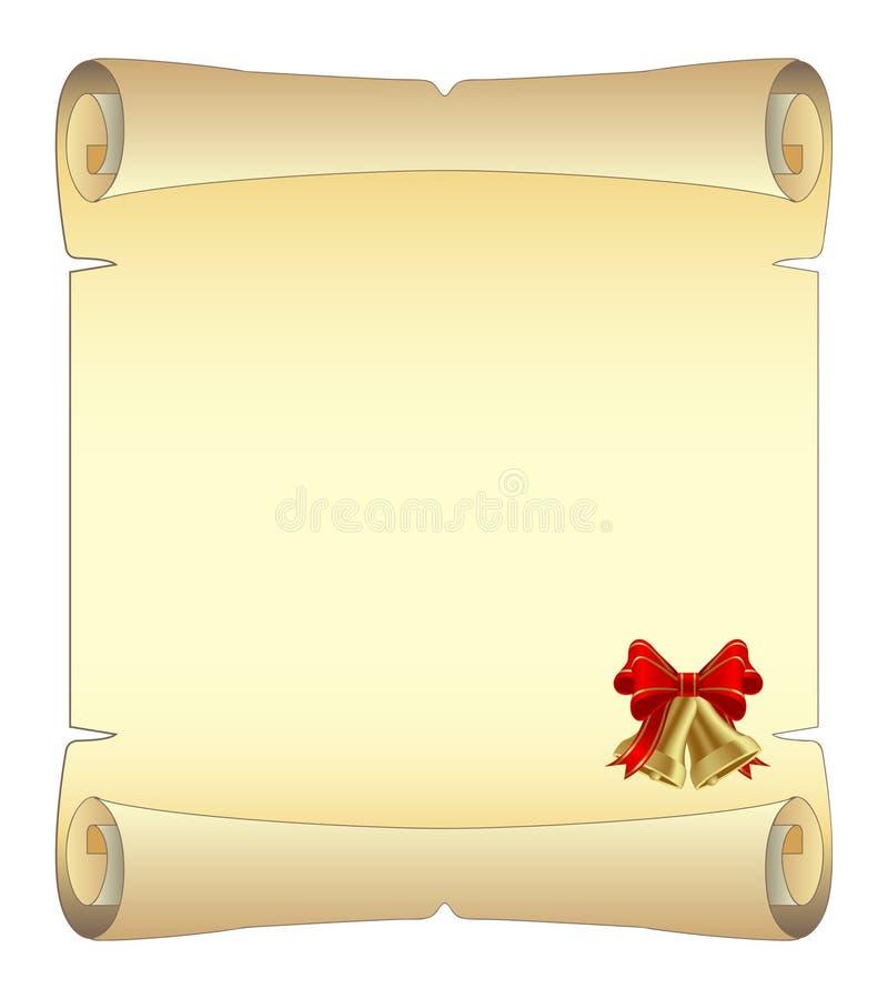 De rol van Kerstmis royalty-vrije illustratie