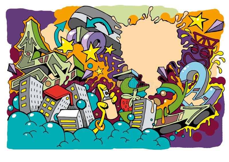 De Rolachtergrond 01 van de graffitivleet royalty-vrije illustratie