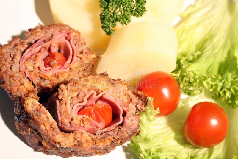 De rollade van het rundvlees royalty-vrije stock afbeelding