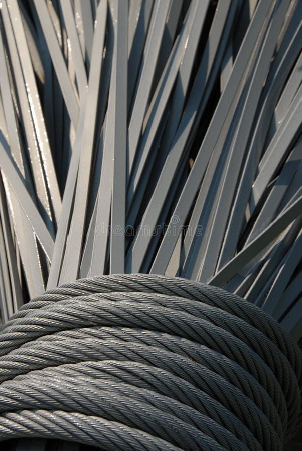 De rollen en de stroken van het staal royalty-vrije stock fotografie