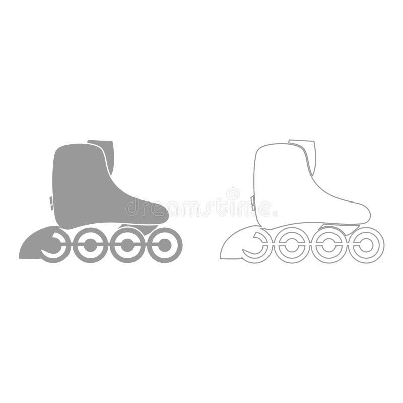 De rolschaats het is pictogram stock illustratie