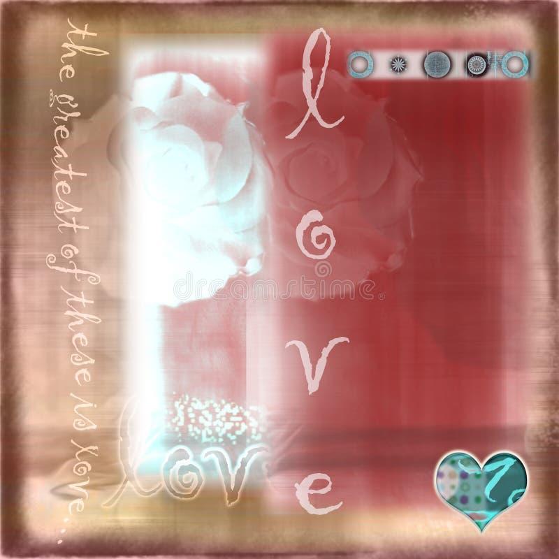 De romantische Abstracte Achtergrond van Grunge van de Liefde royalty-vrije illustratie