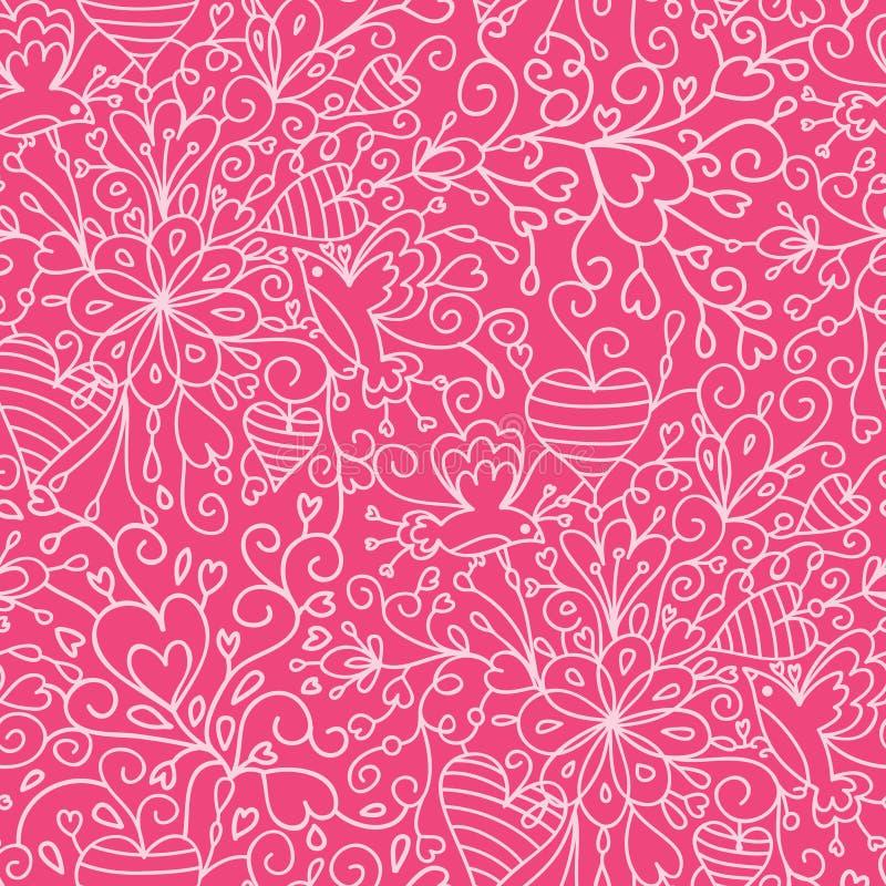 De romantische achtergrond van het tuin naadloze patroon vector illustratie