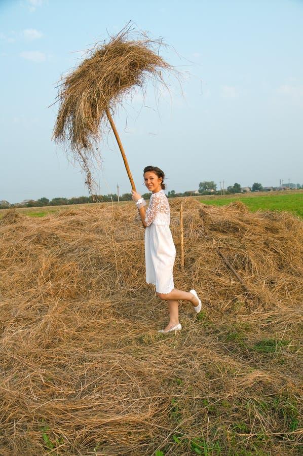 De romantische bruid van het land stock fotografie