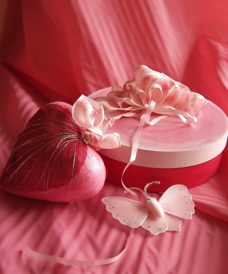 De romantische dag van Valentijnskaarten stock foto's
