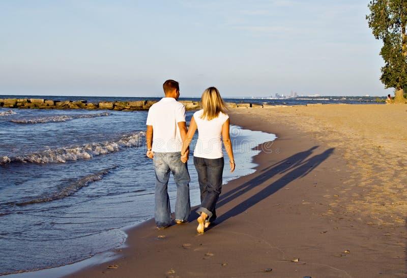 De romantische Gang van het Strand stock foto's