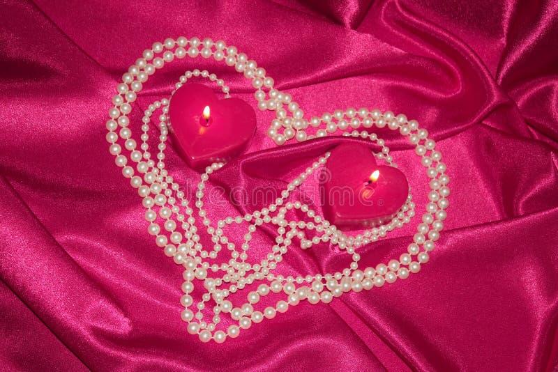 De romantische Kaart van het Hart van de Dag van Valentijnskaarten - de Foto van de Voorraad stock afbeeldingen