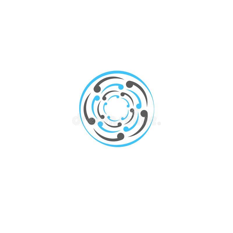 De ronde actieve deeltjes van de embleemillustratie vector illustratie