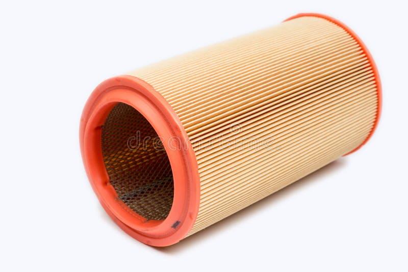 De ronde die filter van de motor van een autolucht over witte achtergrond wordt geïsoleerd stock foto's