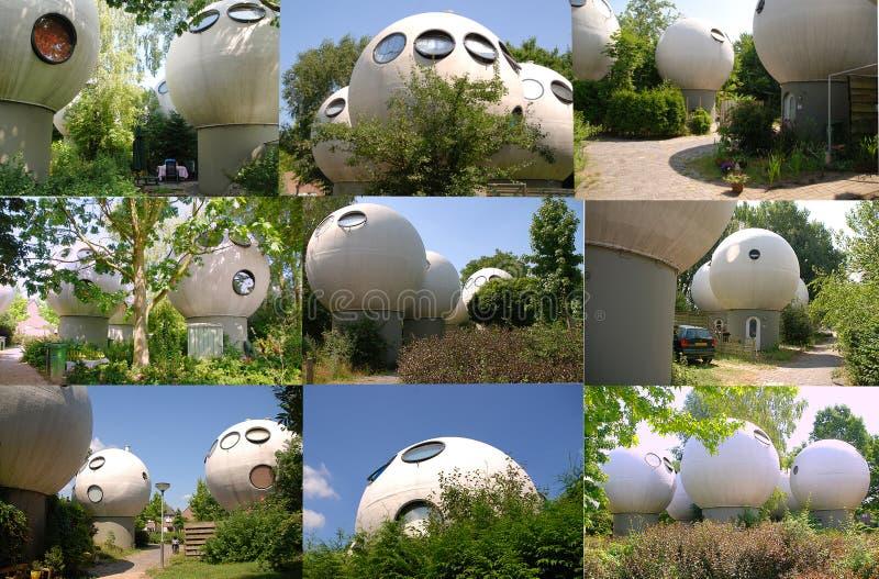 De ronde gebouwen in Nederland royalty-vrije stock fotografie