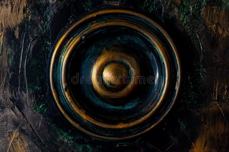 De ronde Indische Houten knop van Coloreful royalty-vrije stock foto