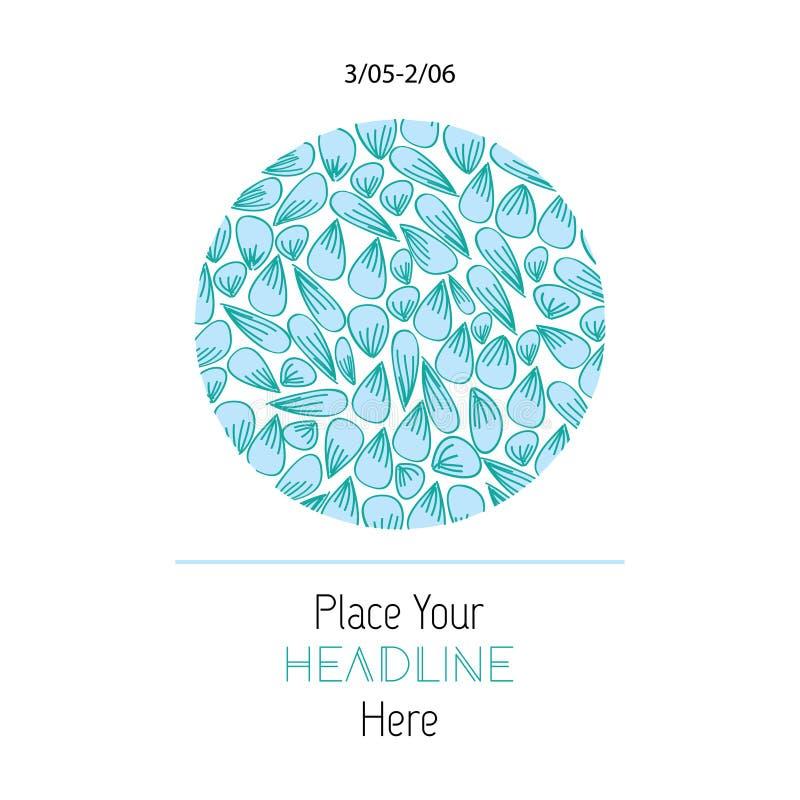 De ronde kaart met abstract blauw doorbladert Het kan voor affiche, brochure, uitnodiging, dekkingsboek, catalogus worden gebruik vector illustratie