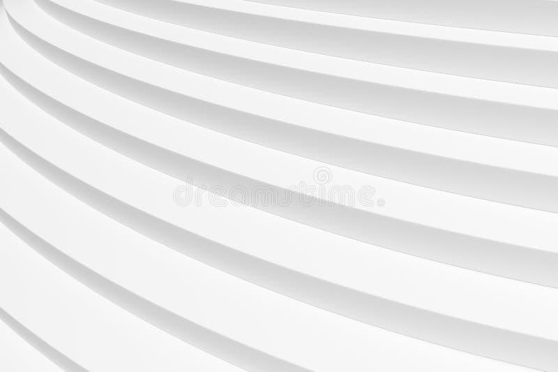 De ronde witte het stijgen mening van de tredenclose-up royalty-vrije illustratie