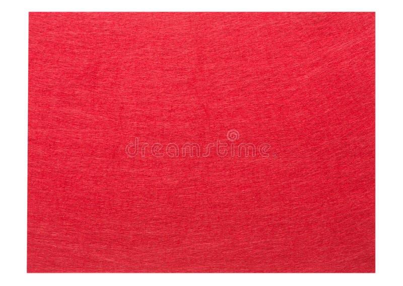 De rood gevoelde achtergrond van de stoffentextuur stock fotografie