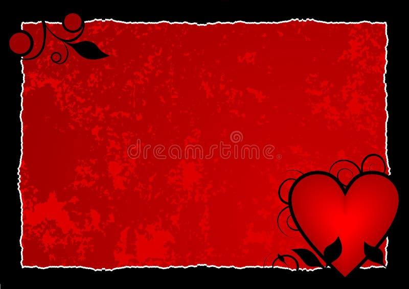 De roodgloeiende Achtergrond van het Hart vector illustratie