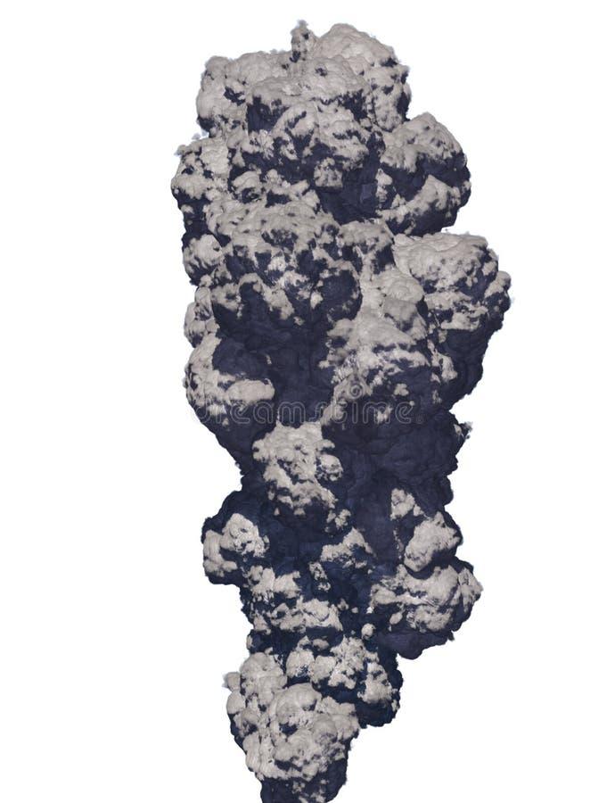 De rook van de vulkaan stock illustratie