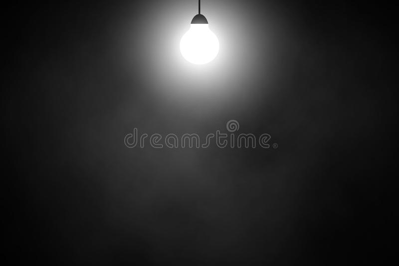 De rookachtergrond van de lamp witte schijnwerper stock illustratie